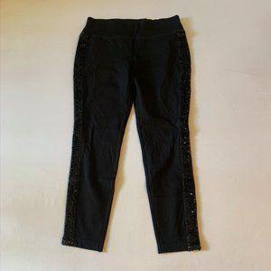 INC Black sequin skinny leg pant 10P